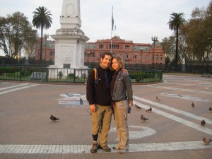 After an afternoon of bicycling around, we caught the setting sun in the Plaza