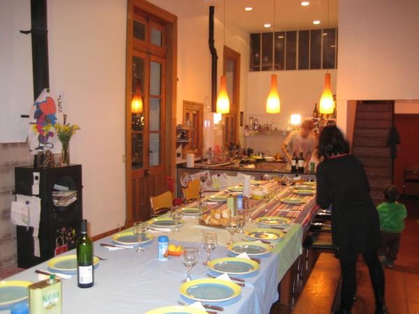 An international dinner in a beautiful home
