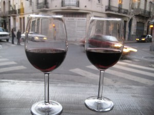 We stopped in at a cafe for 2 glasses of wine for 15 pesos (about 4 bucks!)