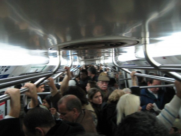 Subways (and especially buses) are packed here, no matter the time of day