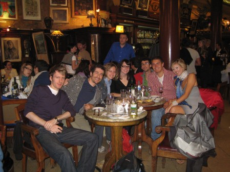 With new friends from Academia Buenos Aires at Cafe Tortoni