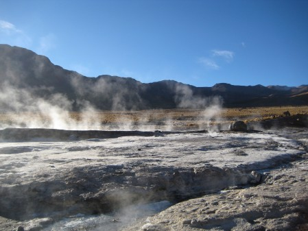 More geysers and salt and ice