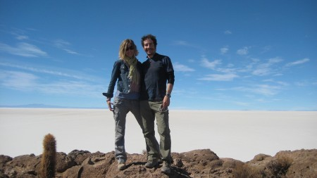 On top of Isla de Incahuasi in the middle of the Salar de Uyuni