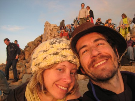 As we watch sunset from the top of the giant hill next to Copa