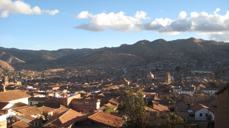 Cusco, from our hostel's front doorstep
