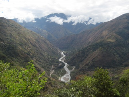 "More valley we were trekking through..this is the sacred Wilcamayu river (now ""Urubamba"")"