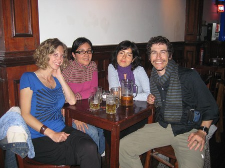 A night out with our Perviuan friends. The bar was called La Noche in the barrio of Barranco.