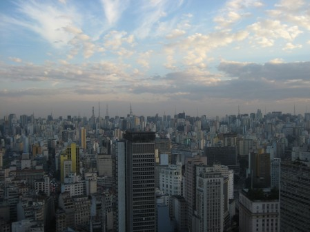 São Paolo is just city for as far as the eye can see (view from top of famous old bank building in downtown of São Paolo)