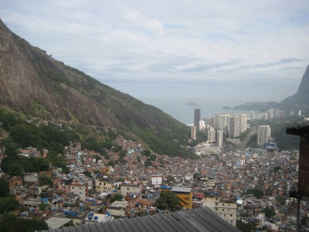 This picture typifies Rio..rock mountains next to high rises next to slums (favelas) in a sub-tropical climate