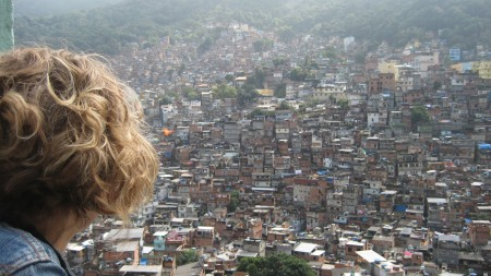 Looking out at Rocinha favela