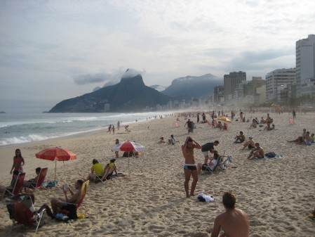"Ipanema beach in ""winter"""