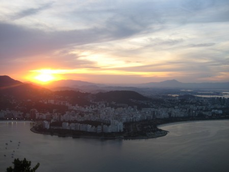 Rio at sunset