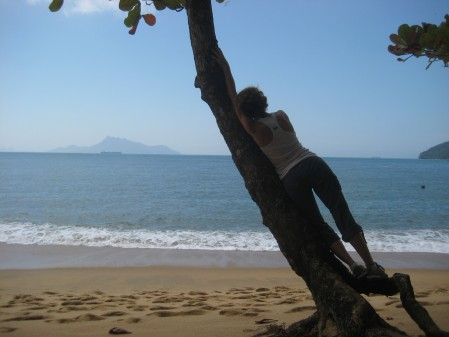 On a hike to Lopes Mendes. Ilha Grande